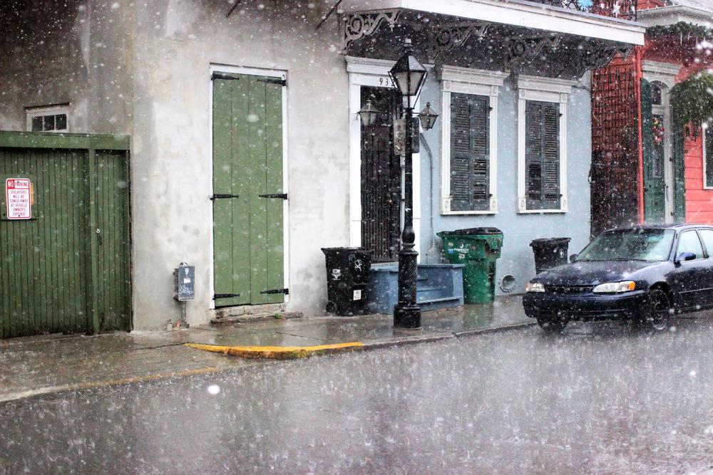 Rain outside of Lafitte's