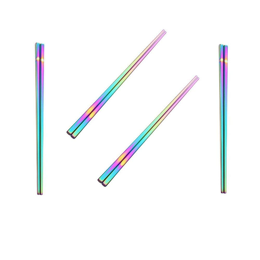 These  rainbow chopsticks  are another way to go easy on the environment and look cool doing it! Just like plastic straws, single-use chopsticks are often not even used and get thrown away.