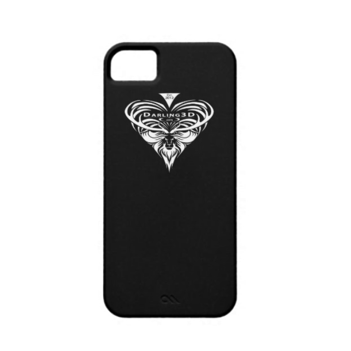 iPhone 5 Case with Darling3D Logo white on black $42.95