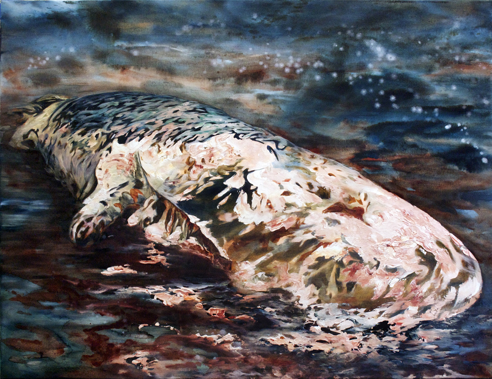 """Dead Whale"" Oil on canvas, 36"" x 48"", 2012"
