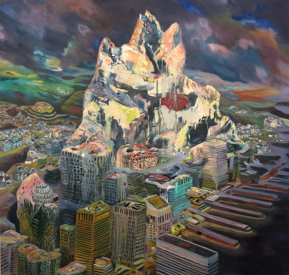 """Babel"" Oil on canvas, 68"" x 72"", 2012"