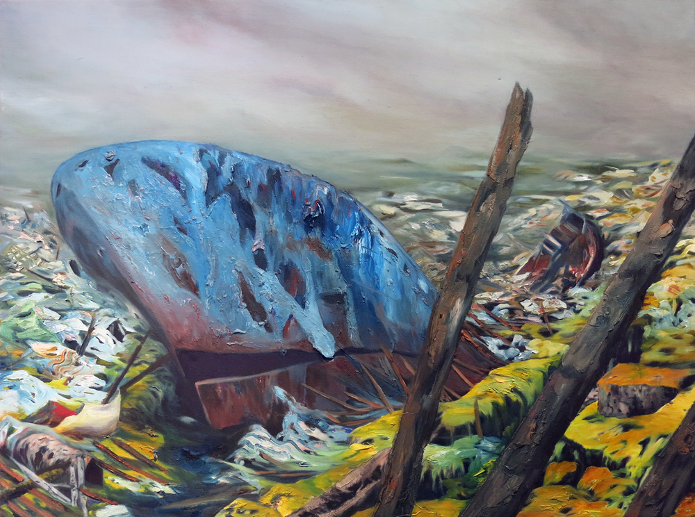 """Gyre"" Oil on canvas, 36"" x 48"", 2012"