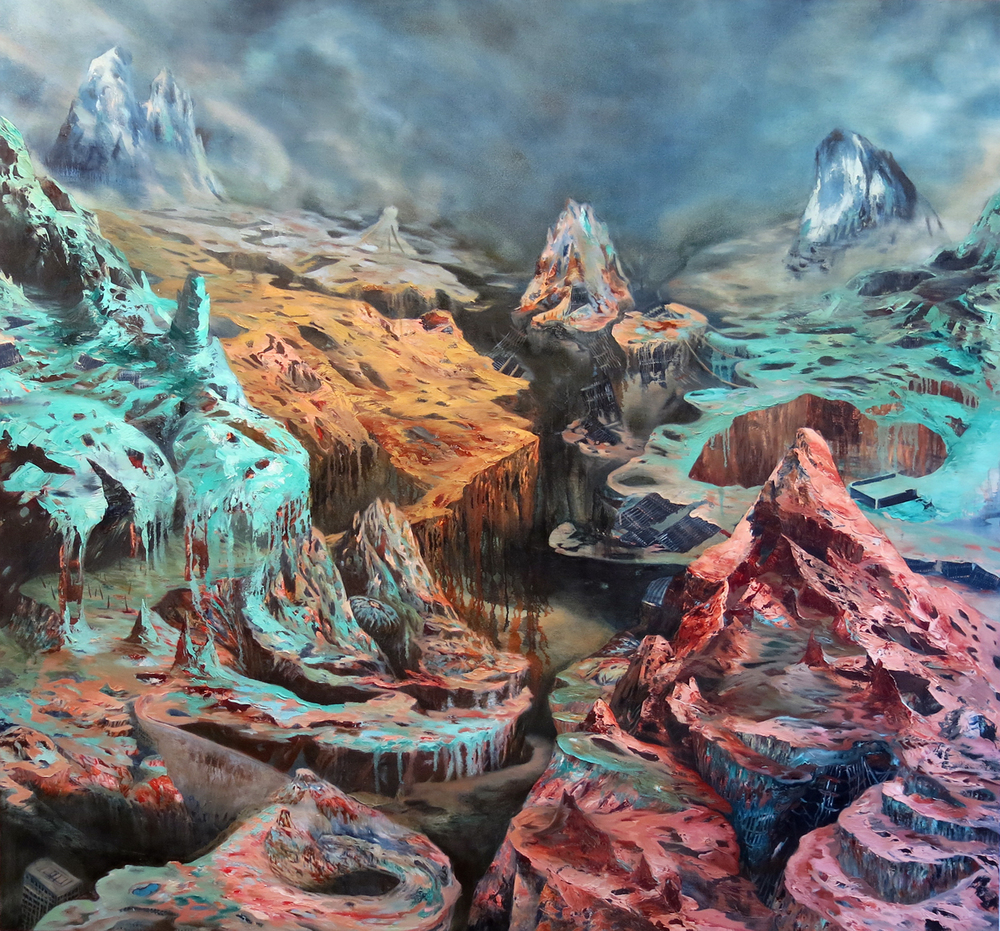 """Spring Thaw"" Oil on canvas, 68"" x 72"", 2012"