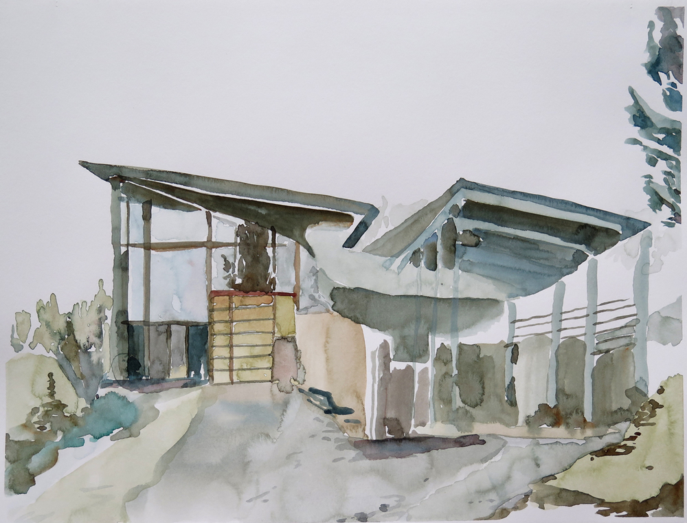 NKD Centre, Dale   Watercolour on paper, 10.6 in. x 13.8 in. 2013