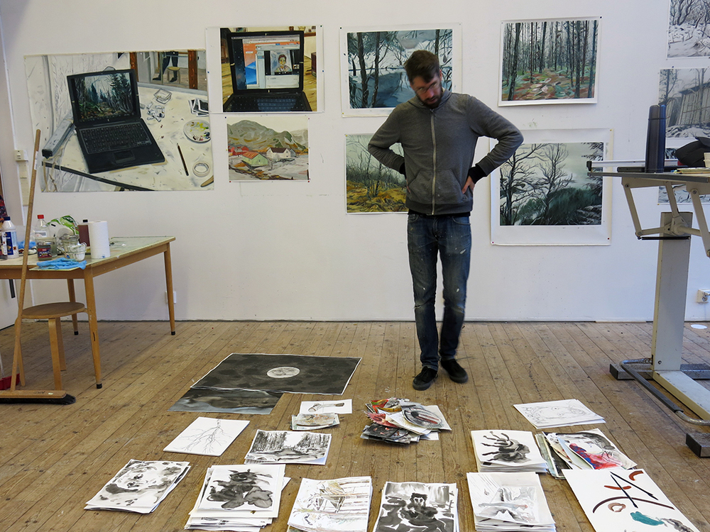 Studio photo from Open Studio Day at NKD, Dale, Norway, 2013.