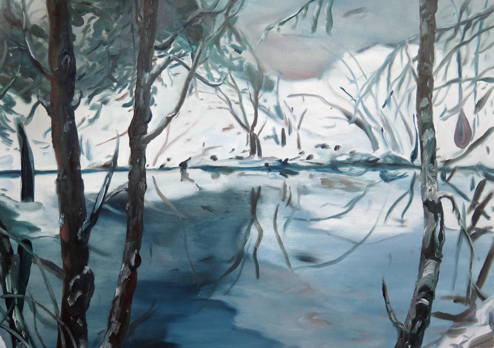 Pond beside NKD   Oil on canvas, 2013