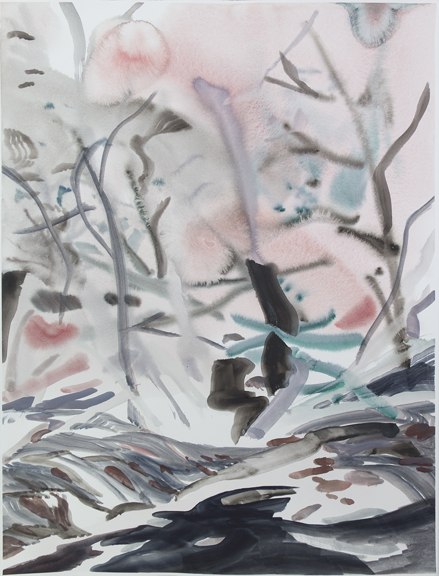 """Wienerwald 12"" Watercolour on Arches paper. 30"" X 22.5"", 2015"