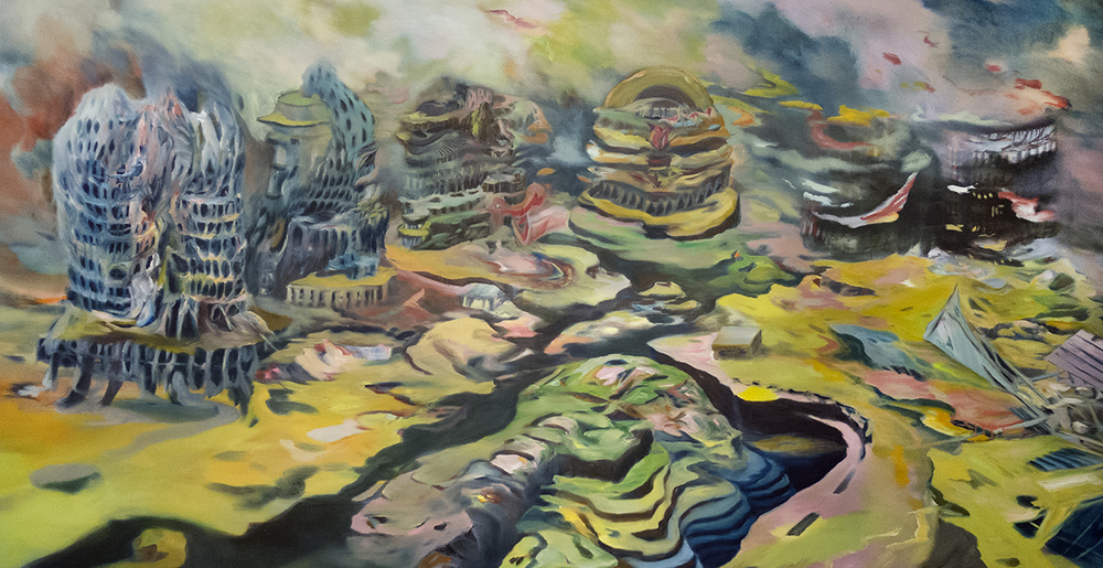 """Returns"" Oil on canvas, 54"" x 104"""