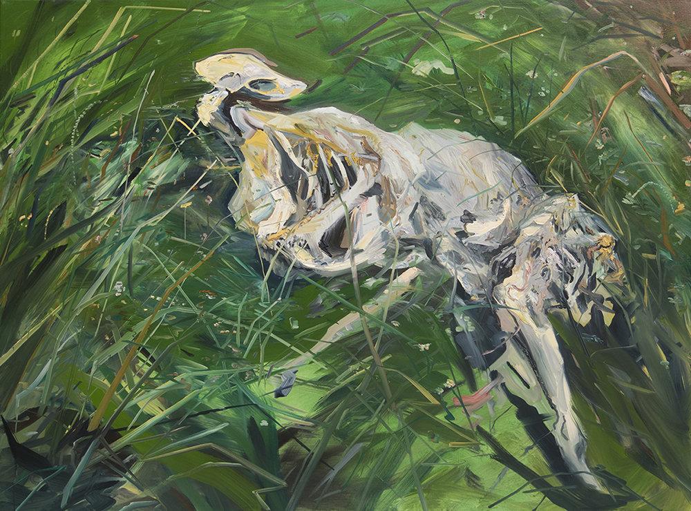 """Dead Deer Port Wash"" Oil on canvas, 60"" x 78"""