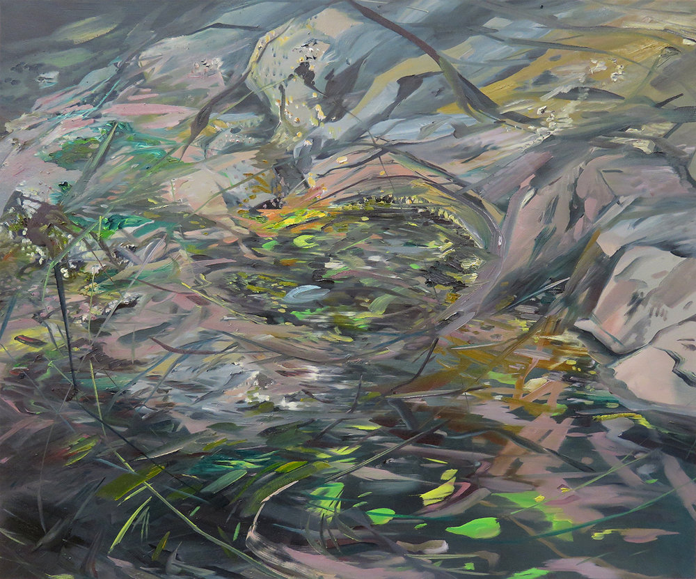 """Grimmer Bay Tidepool"" Oil on canvas, 30"" x 36"""