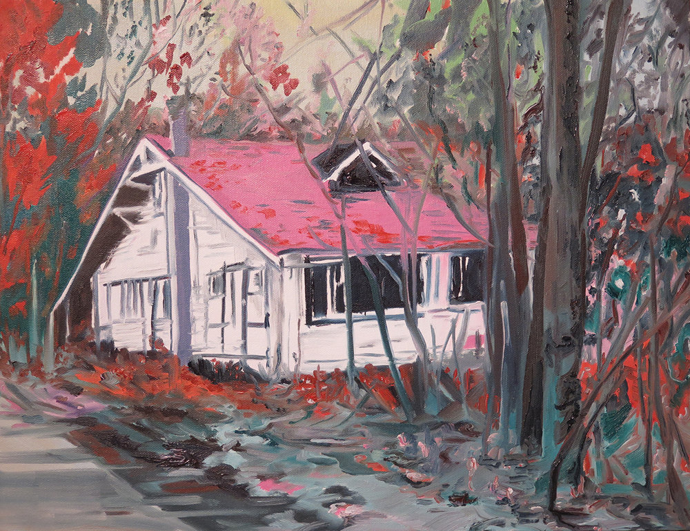 """My Favourite House"" Oil on canvas, 14"" x 18"""