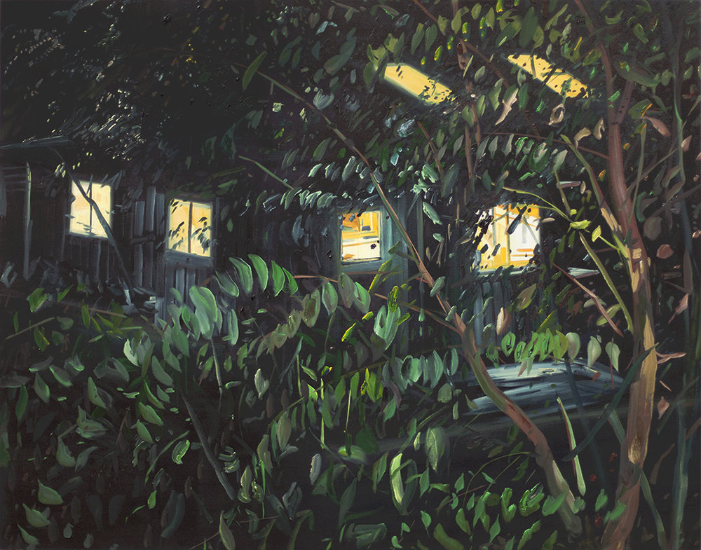 """Studio at Night"" Oil on canvas, 48"" x 60"""