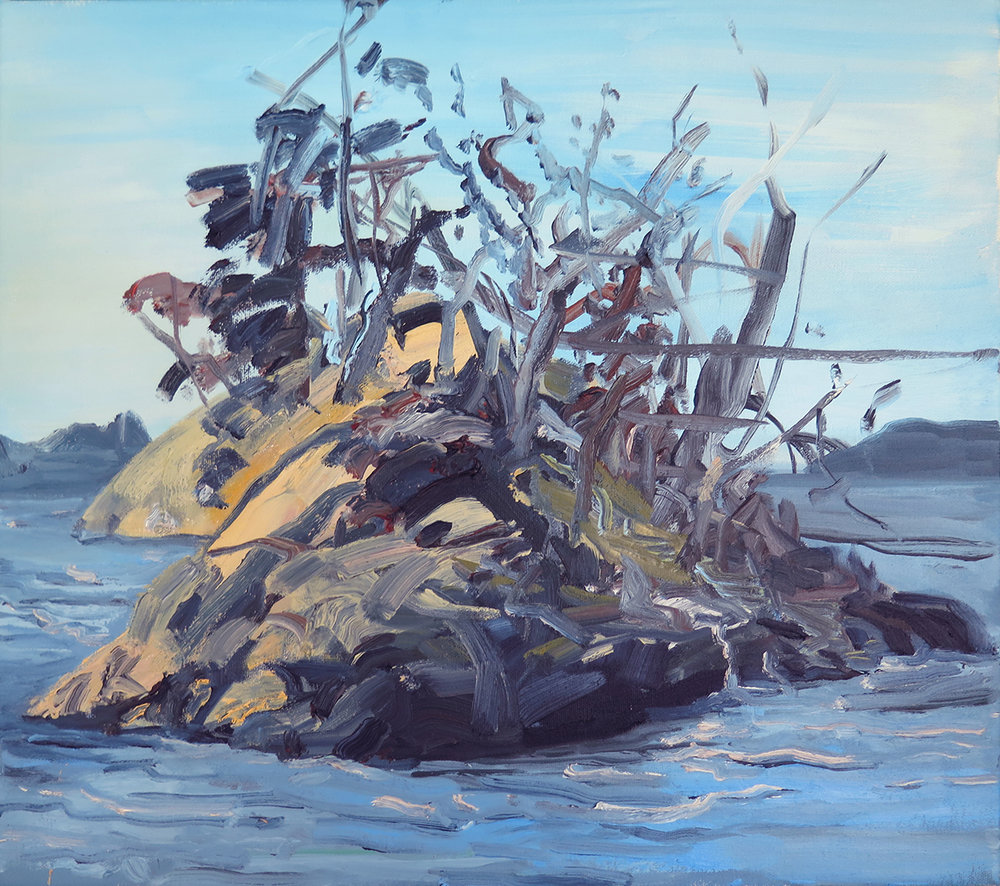 """Grimmer Island"" Oil on canvas,"