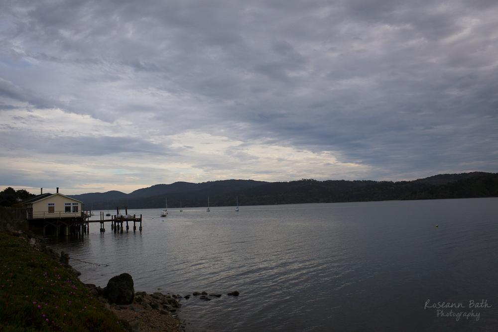 Tomales Bay at sunset