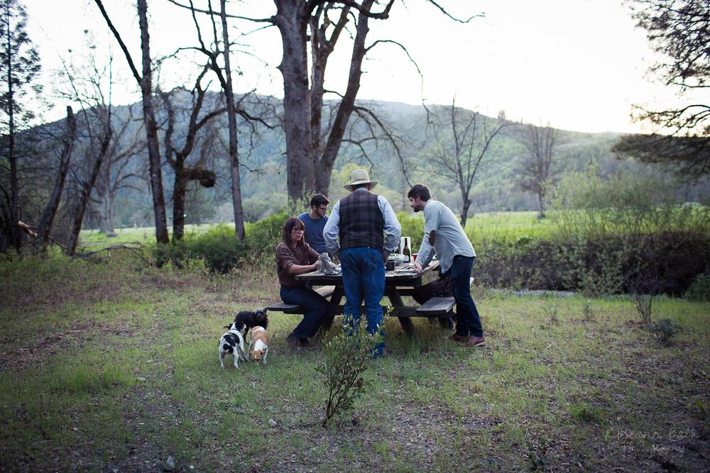 family style picnic dinner