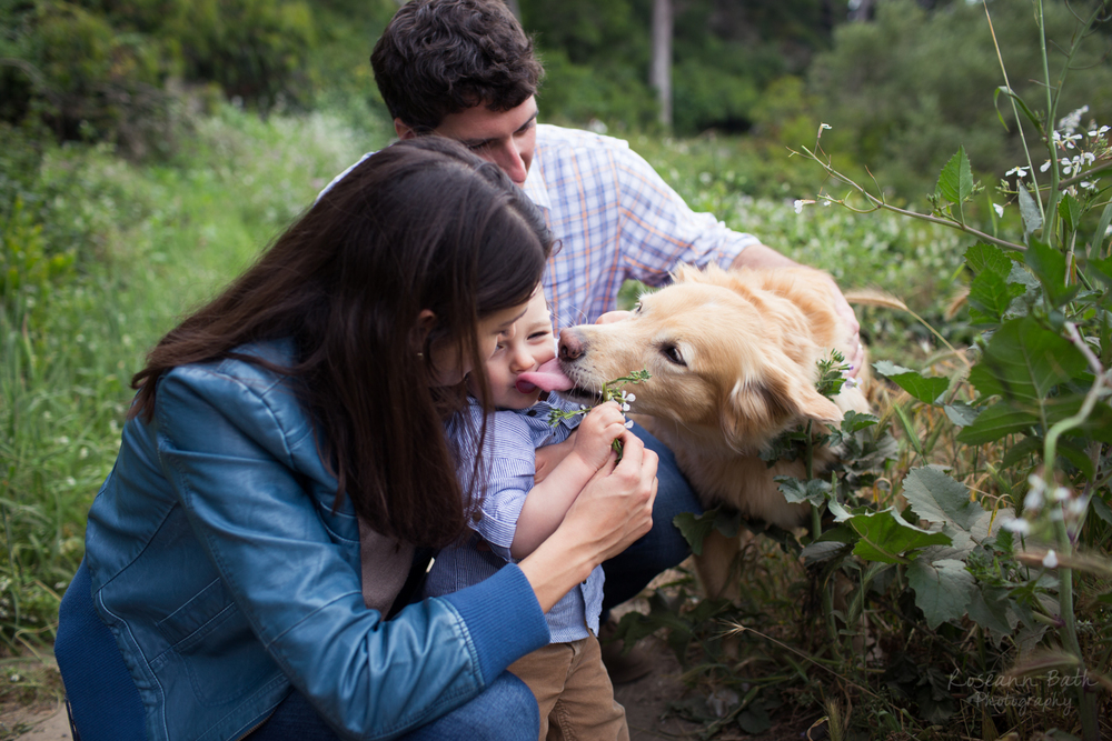 doggy kisses lands end trail family portrait