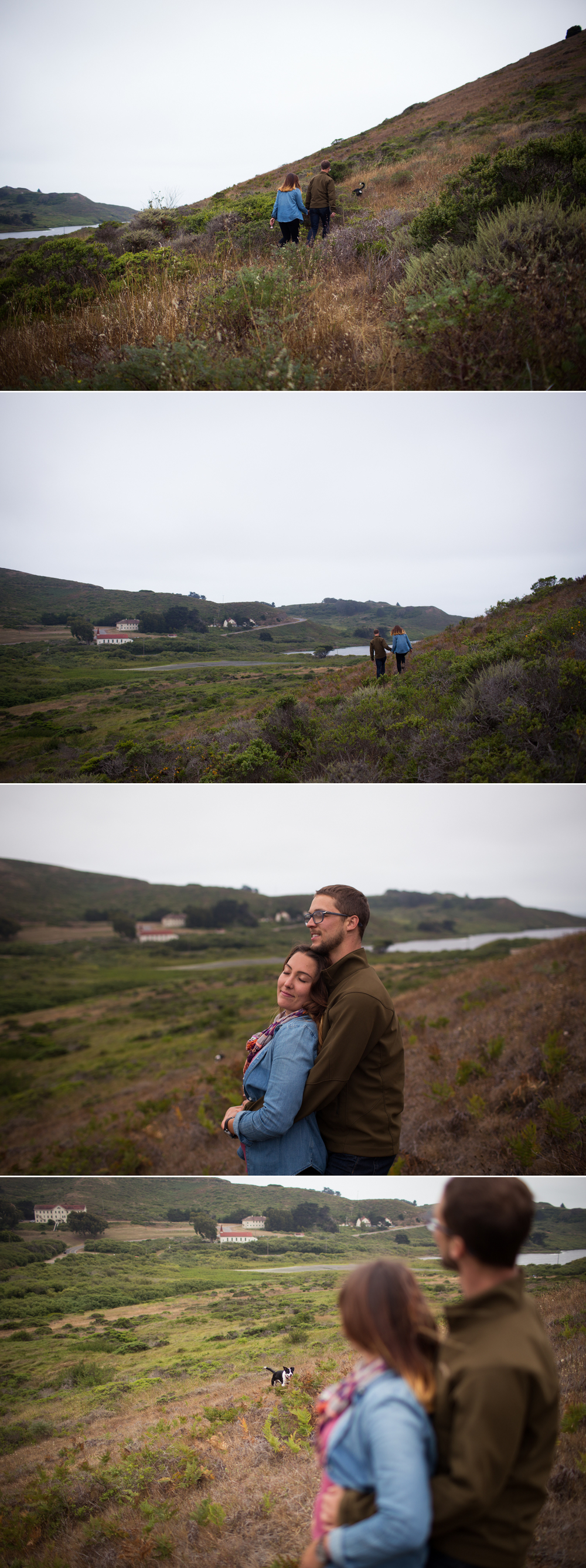 hillside engagement, Marin Headlands