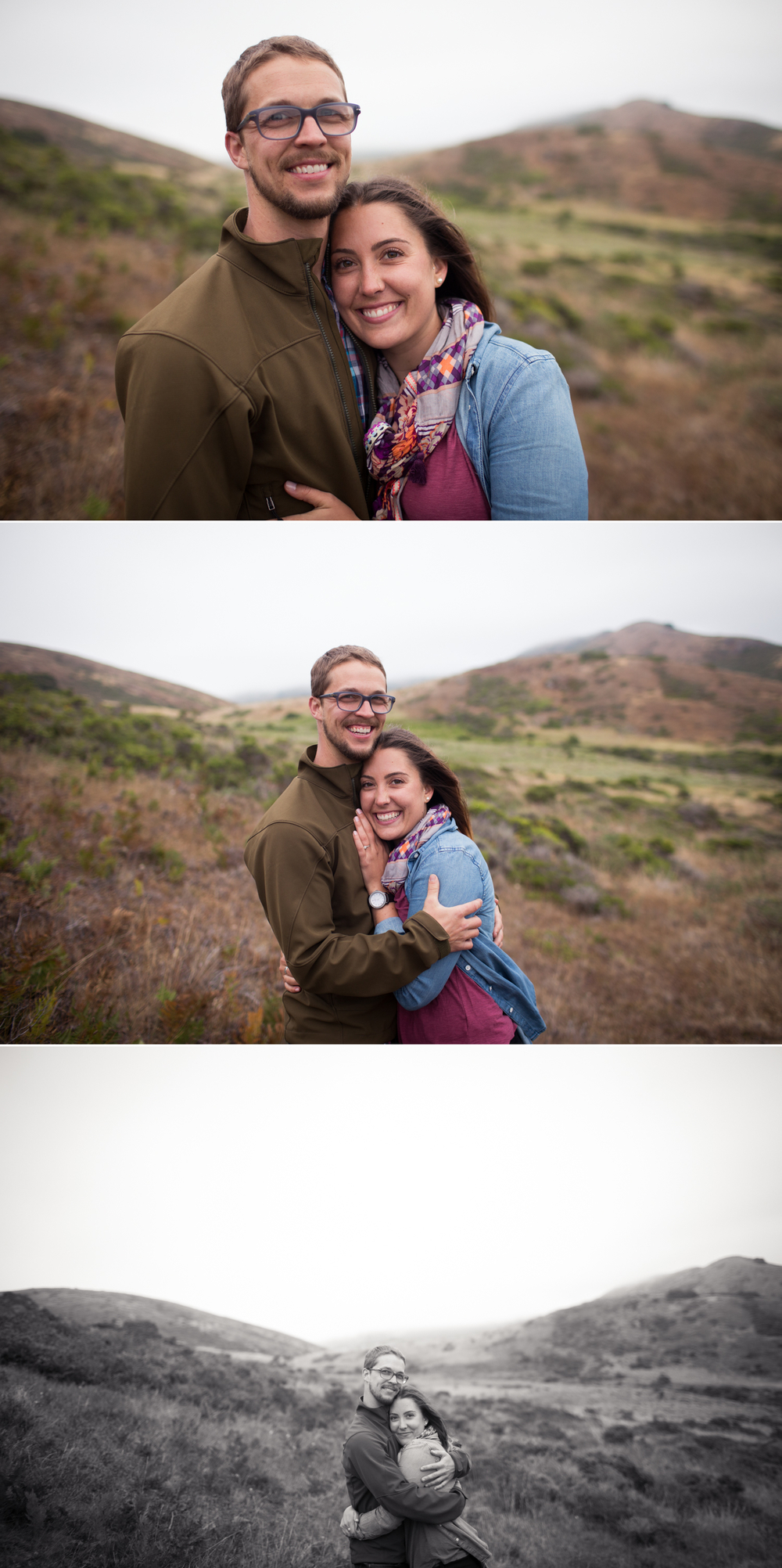Bay Area Couple, Marin Headlands Engagement