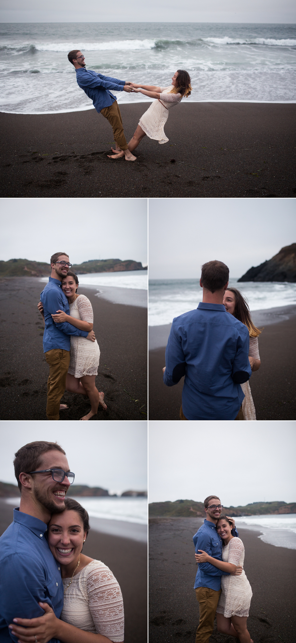 Rodeo Beach Engagement, Marin Headlands