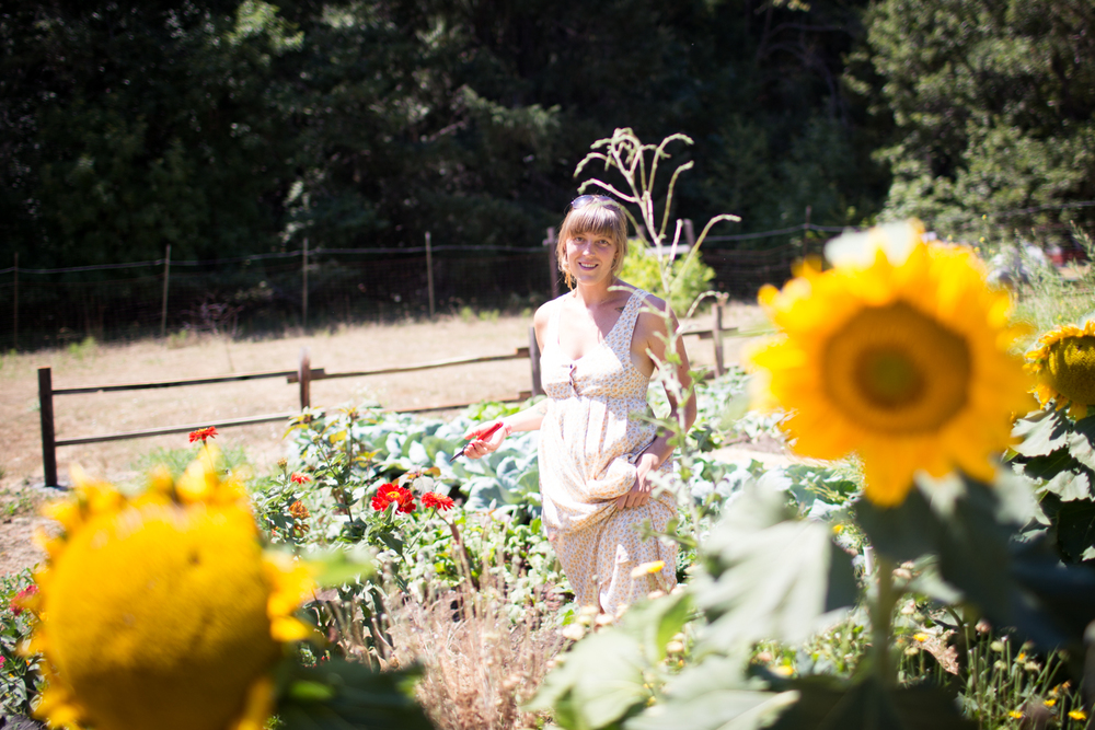 christa in the sunflowers