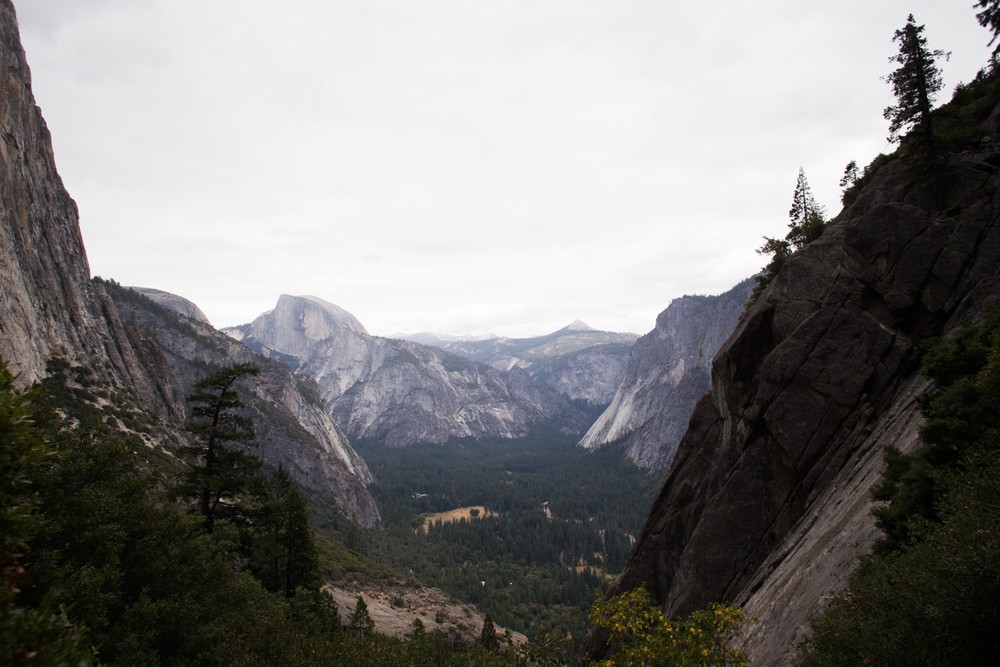 view from upper yosemite falls trail