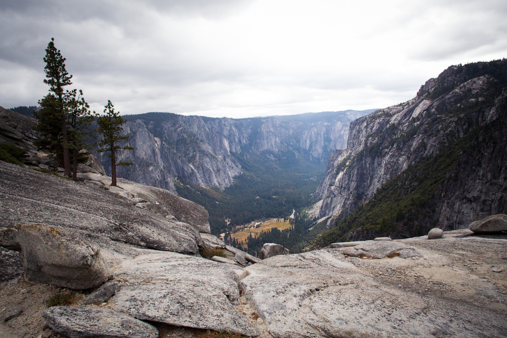 hiking to Yosemite point
