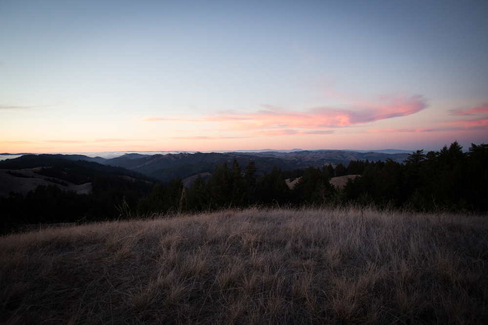 pink clouds mount tam