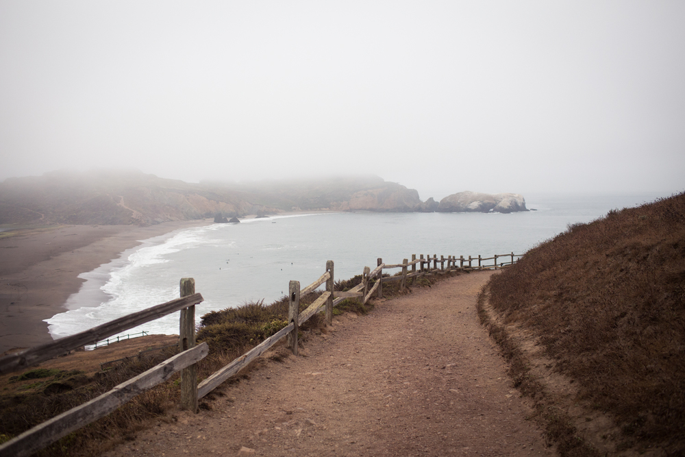 rodeo beach from coastal trail marin headlands