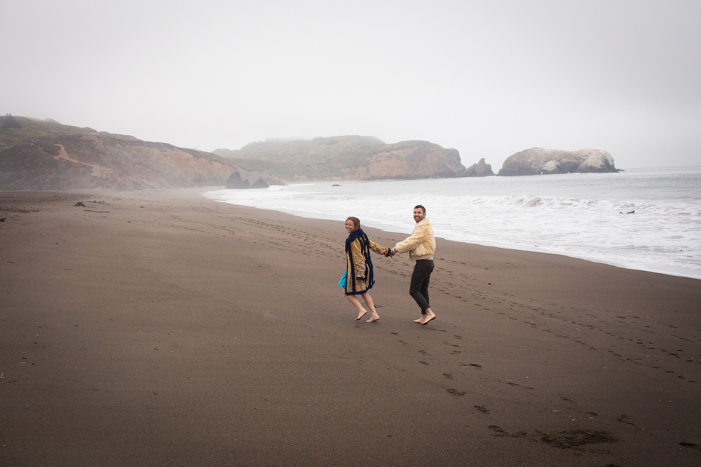 Rodeo beach engagement burning man