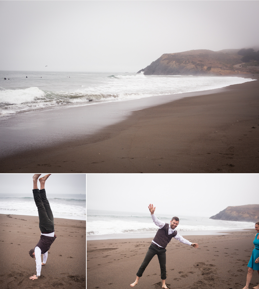 engagement session rodeo beach