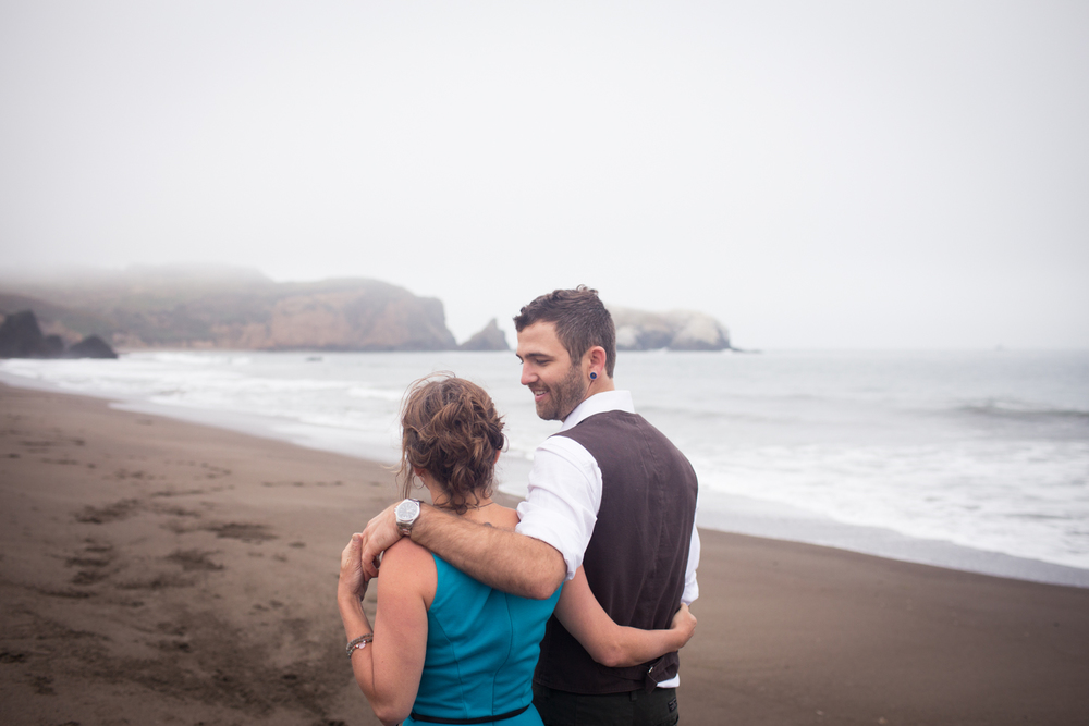 rodeo beach engagement
