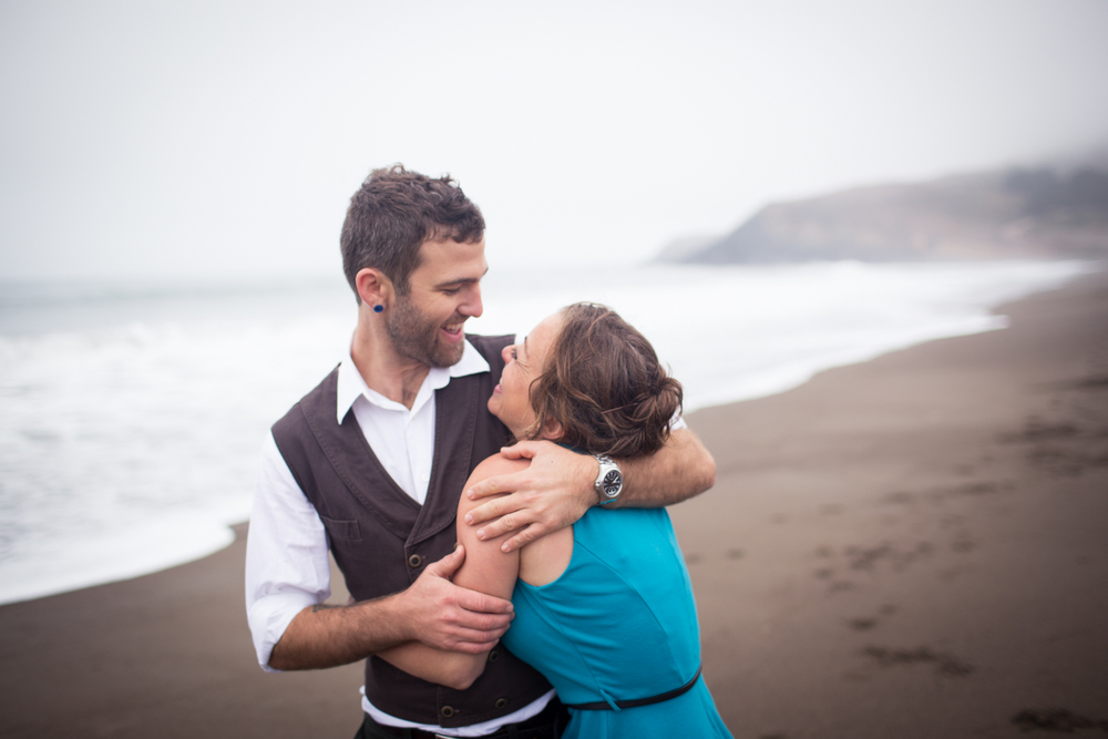 Rodeo Beach Engagement Marin Headlands