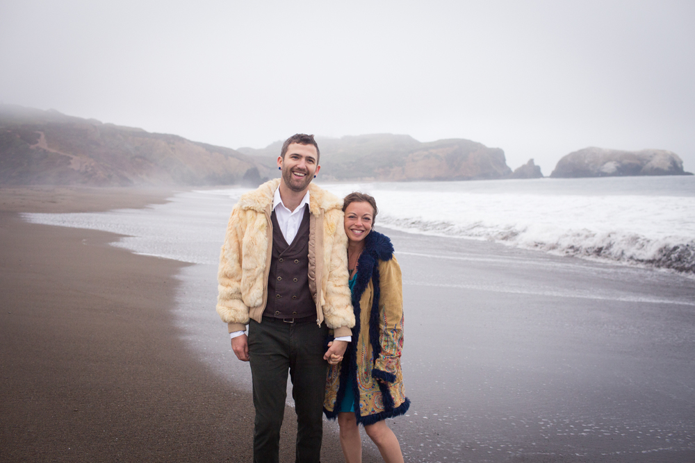 Rodeo beach engagement session marin headlands