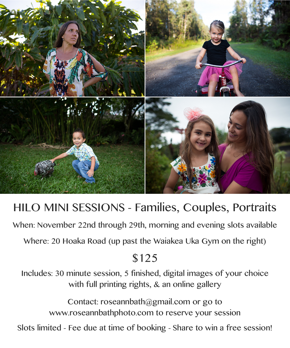 hilo mini session big island