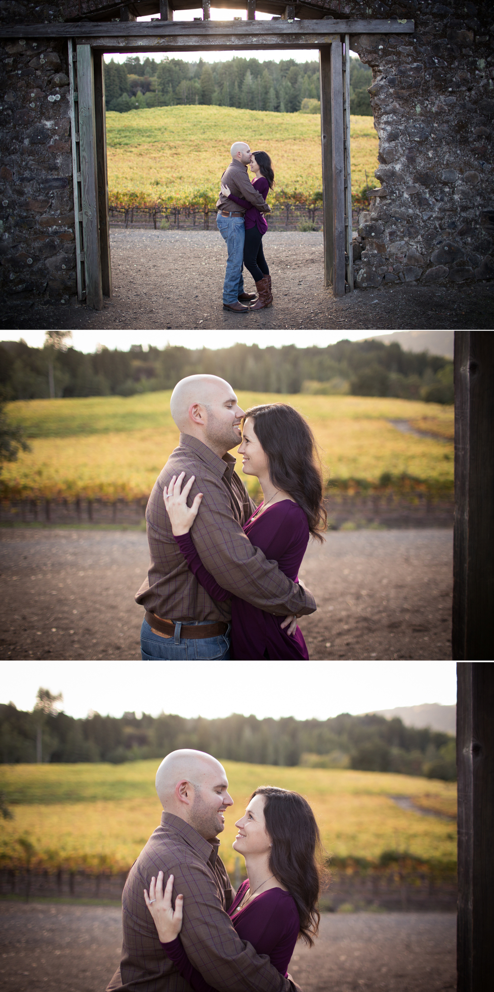 winery ruin engagement