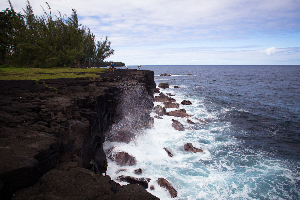 lava rock cliffs