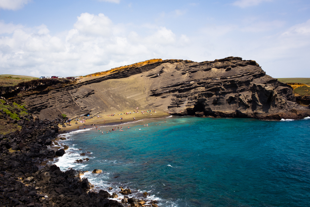 Papakolea Green Sand Beach South Point Big Island Hawaii