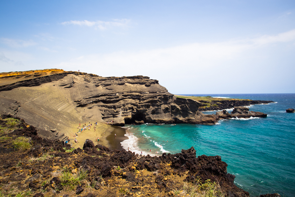 Papakolea Green Sand Beach big island south point hawaii