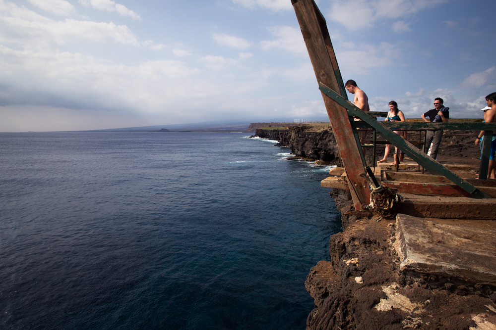 jumping off south point ka lae big island hawaii