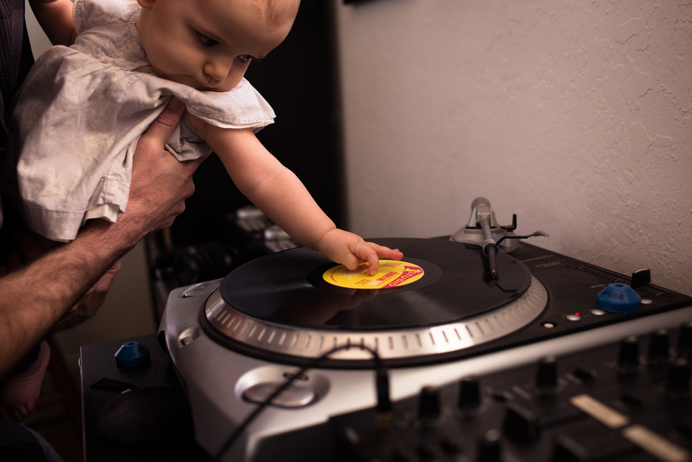 spinning records with dad