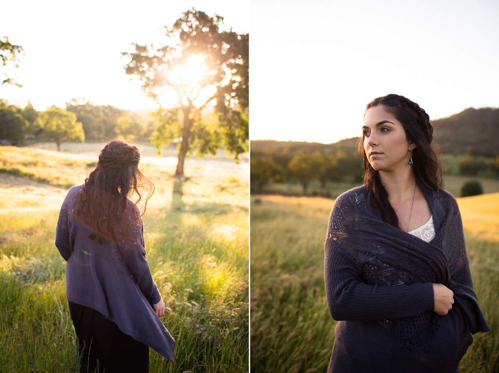 Sunrise portrait photography nevada county