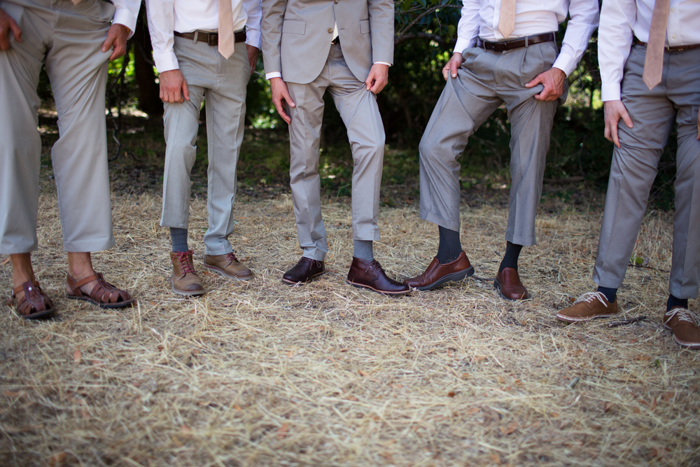 groomsmen Mendocino County Wedding Photographer