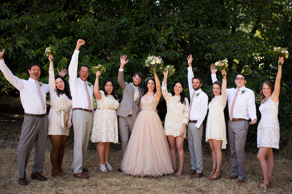 bridal party Mendocino County Wedding Photographer