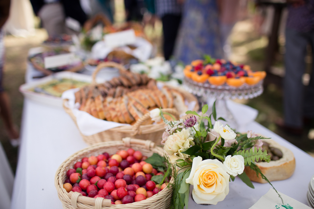 appetizers mendocino county wedding