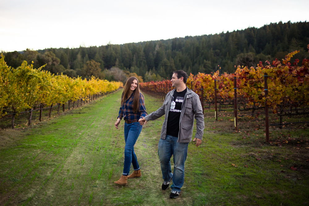 sonoma county wedding photographer engagement