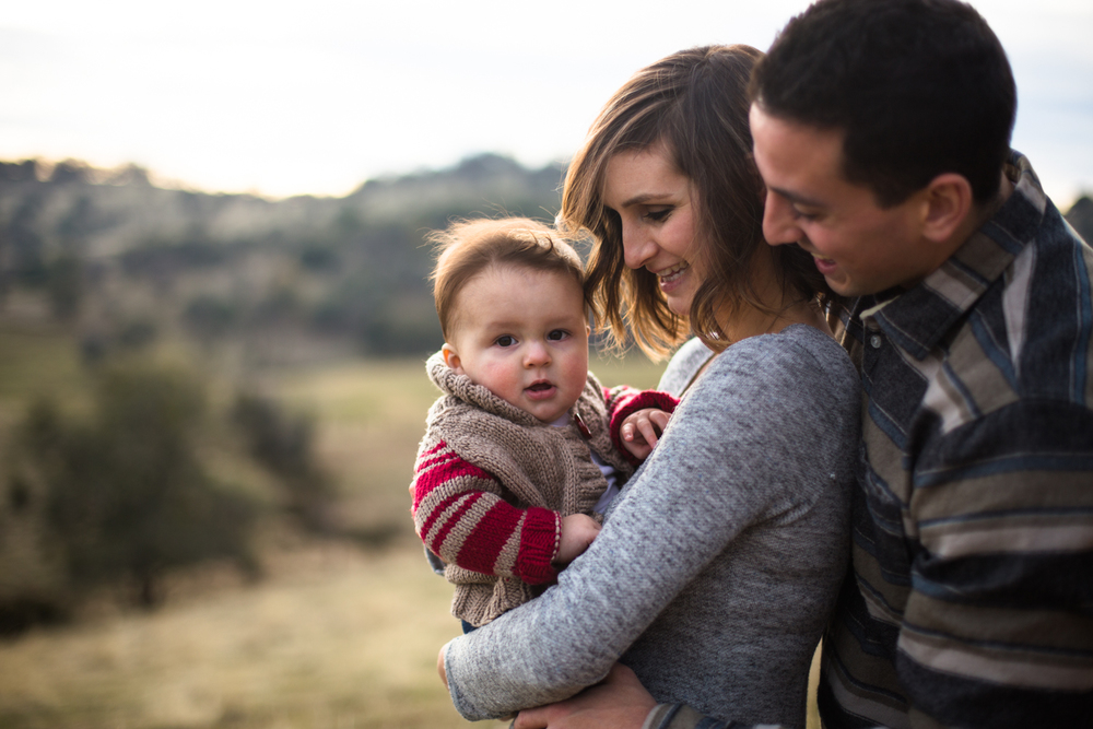natural light family portrait grass valley nevada city