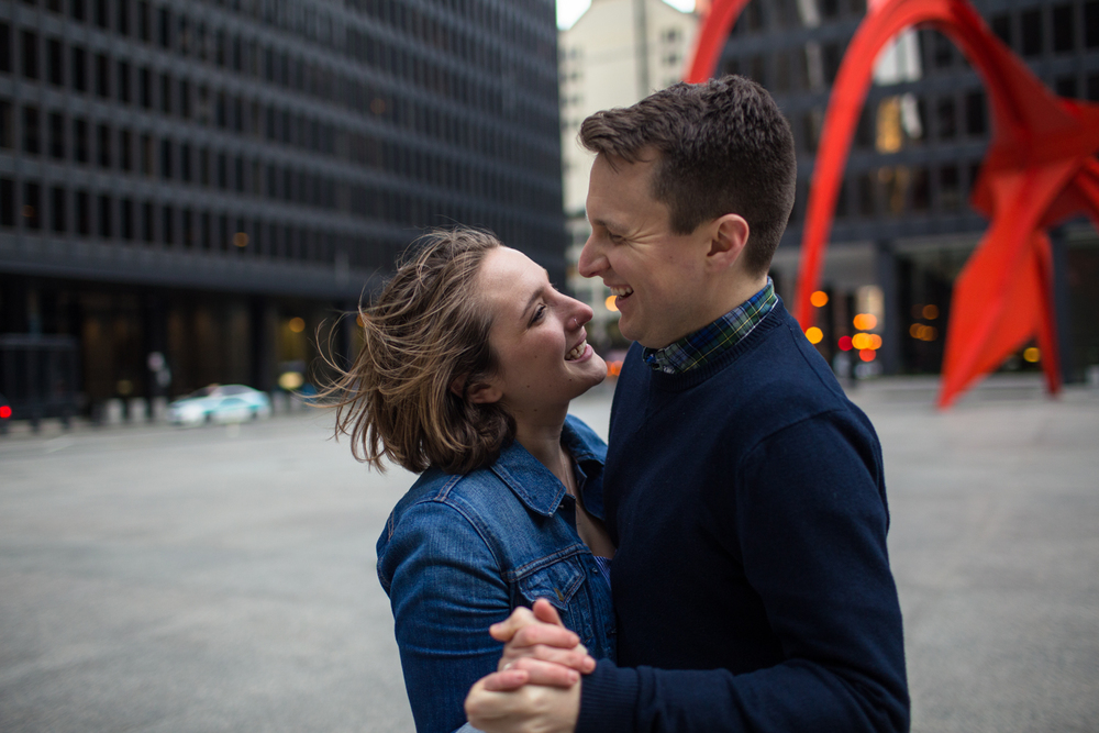 chicago engagement photographer natural light