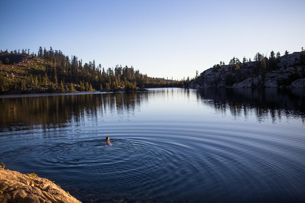 sunrise over island lake tahoe national forest