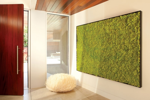 California Home Design Features A Moss Wall In A House Tour Article  Titledu0026nbsp; Fuzzy Logic