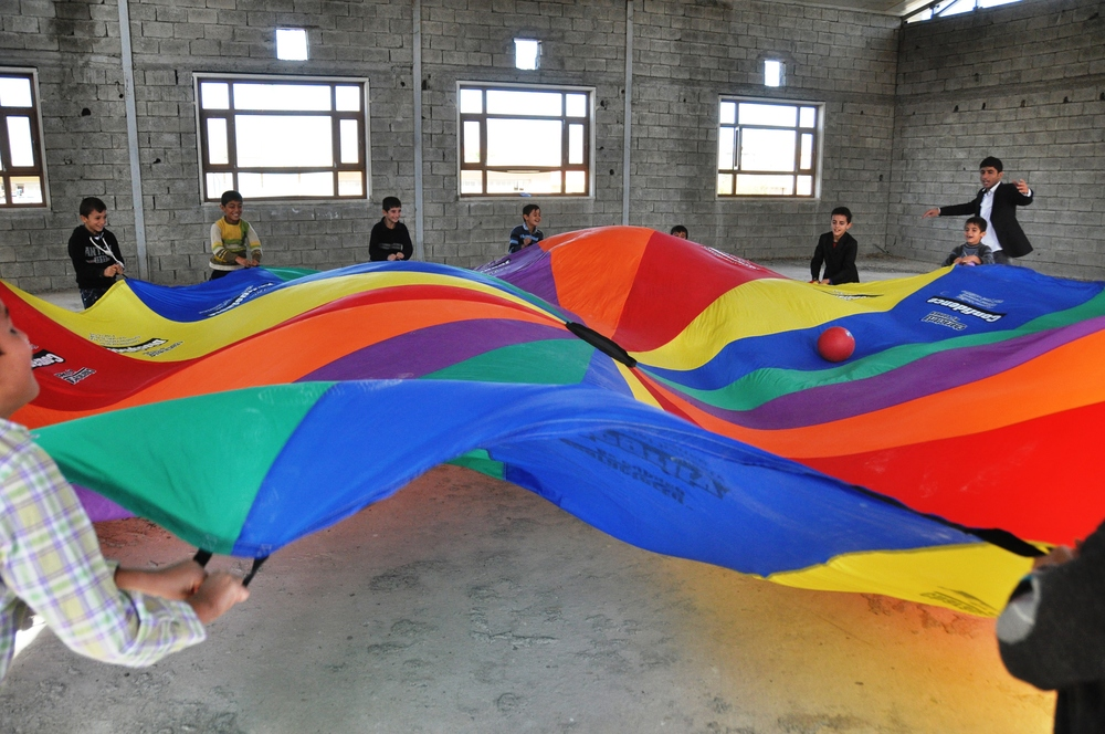 Having fun with the Parachute.jpg